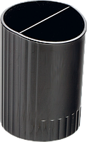 Підставка для ручок BM.6350-01 пластикова кругла на 2 віділення чорна (4)