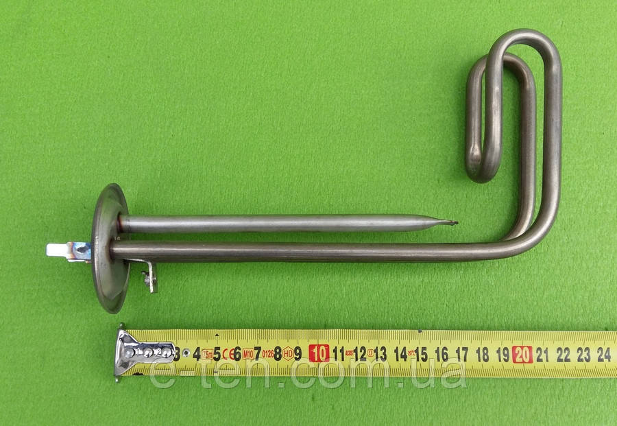 Тэн загнутый 1500W (нержавейка) / на фланце Ø63мм / для бойлеров Thermex / c трубкой под термостаты   (Украина