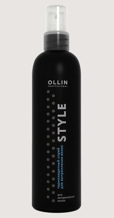 Термозахисний спрей для випрямлення волосся 250 мл Оллін OLLIN Professional