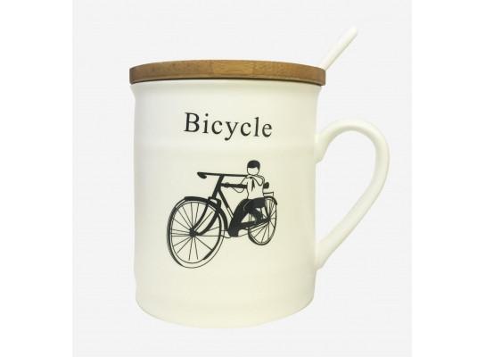 Чашка с крышкой Old Classic Велосипед