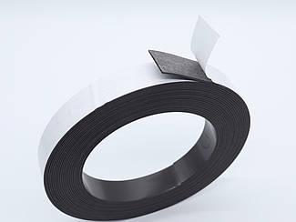 Магнітний вініл з клейовим шаром. Рулон. 25х1,5мм 10,5 метрів
