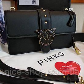 Сумочка Pinko кожаная черная в коробке
