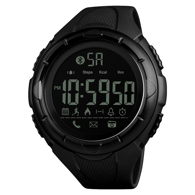 Skmei 1326 черные мужские  спортивные смарт часы