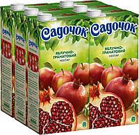 Упаковка Нектара Садочок Яблочно-гранатовый нектар 1.93 л х 6 шт (4823063111973)