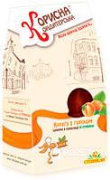 Конфеты Корисна Кондитерська Курага с орехами со стевией 150 г (4820035540502)