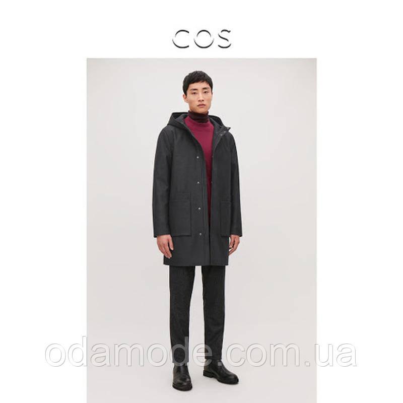 Пальто мужское черное COS