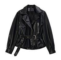 Шикарная новая модель женская косуха пиджак из эко кожи