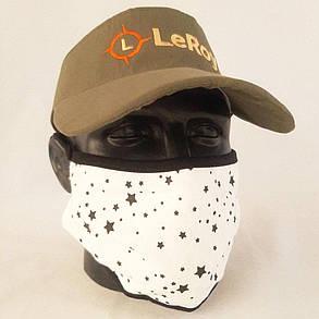Багаторазова маска пітта LeRoy White Star, фото 2