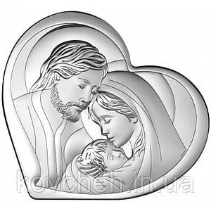 """Икона серебряная """"Святое Семейство"""", 11x9,6"""