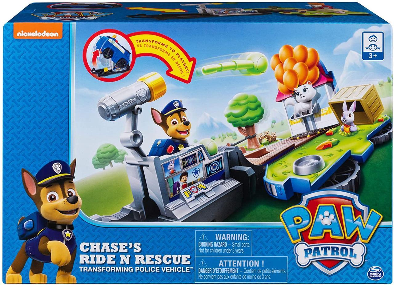 Щенячий патруль машинка -рятувальна станція трансформер з Чейзом Paw Patrol