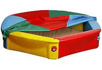 Большая детская песочница с тентом Vipkris Nova + дно (велика дитяча пісочниця з захисним покриттям)