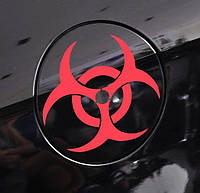 Наклейка Umbrella - биологическая опасность - красная