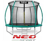 Батут NeoSport 312 см с защитной сеткой и лестницей для детей и взрослых, фото 1