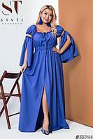 Платье в пол летнее нарядное батал 48-52 54-58