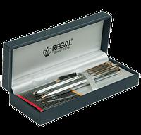 Комплект ручок (П+К) R22109.L.BF в подарунковому футлярі L, хром REGAL