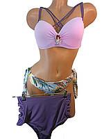 Купальник высокая талия и бразилиана Sisianna  на 44 46 48 50 52 размер