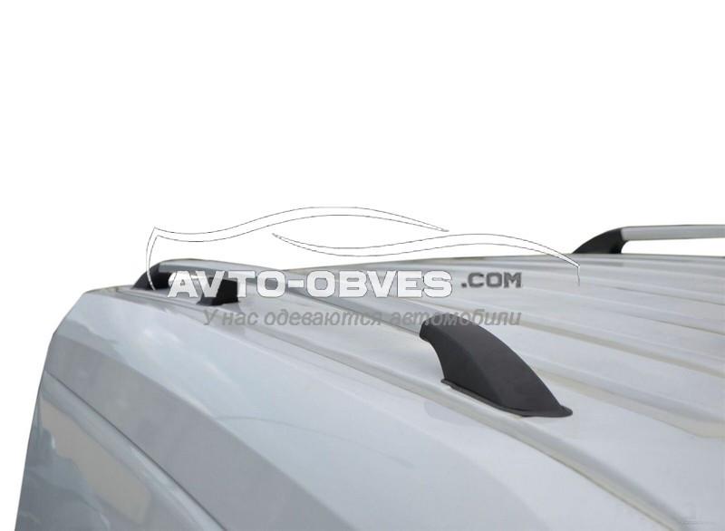 Рейлинги продольные для Ford Connect с металлическими креплениями, кор (L1) / длин (L2) базы