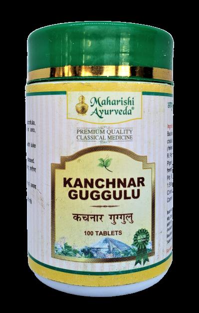 Канчнар Гуггул, Kanchanara 50 таб, 25 гр, - лечение лимфатической системы, щитовидной железы, зоб