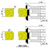 Фрезы твердосплавные для обработки угловых и радиусных фасок (фасонная доска) 140х20...50 (Арт.099)