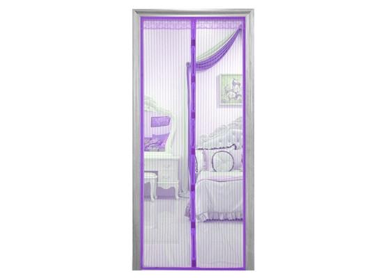 Антимоскитная сетка Magnetic Mesh на магнитах фиолетовая