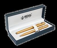 Комплект ручок (П+К) R18109.L.BF в подарунковому футлярі L, золото