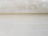 Обои виниловые на флизелине Marburg Opulence Classic 58263 цветы розы вензель серебром на белом, фото 1