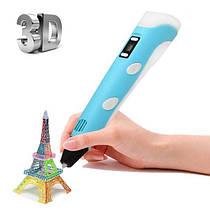 3D ручка c LCD дисплеем и эко пластиком для 3Д рисования Pen 2 Бирюзовая
