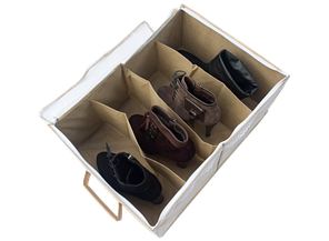 Органайзер для обуви на 4 пары бежевый