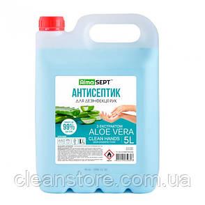 Антисептик для дезинфекции бактерицидный 5 л Alma Sept с Алое Вера, фото 2