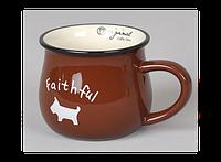 Керамическая чашка Smile коричневая