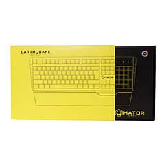 Клавиатура Hator Earthquake Optical Blue Switches RU (HTK-701) Black USB