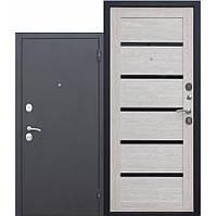 Дверь входная металлическая Гарда 75мм Муар/Листвениця мокко Царга