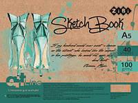 Скетчбук ZB.1489 А5 40 арк пружина, кремовий блок 100 г/м2, ART Line