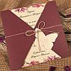 Цветочные приглашения цвета марсала (арт. 52522)