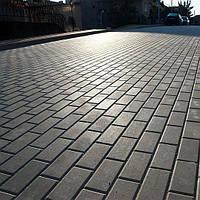 Тротуарная плитка Эко Кирпич 4 см, серый
