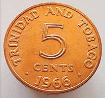 Тринидад и Тобаго 5 центов 1966