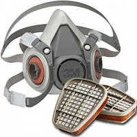 Полумаска 3М™ 6200 + Фильтр 3М™ 6051 (Комплект)