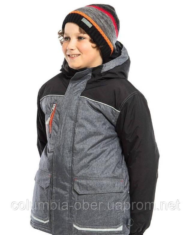 Зимняя куртка для мальчика NANO F18MS291 Black. Размеры 5 - 12 лет.