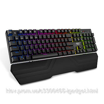Механическая игровая клавиатура Havit HV-KB432L Eng с RGB подсветкой (Черный)