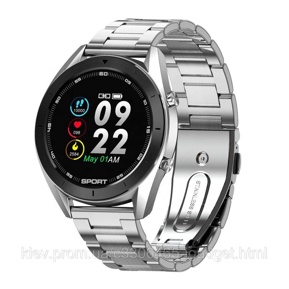 Умные смарт часы NO.1 DT99 Metal с функцией ЭКГ (Серебристый)