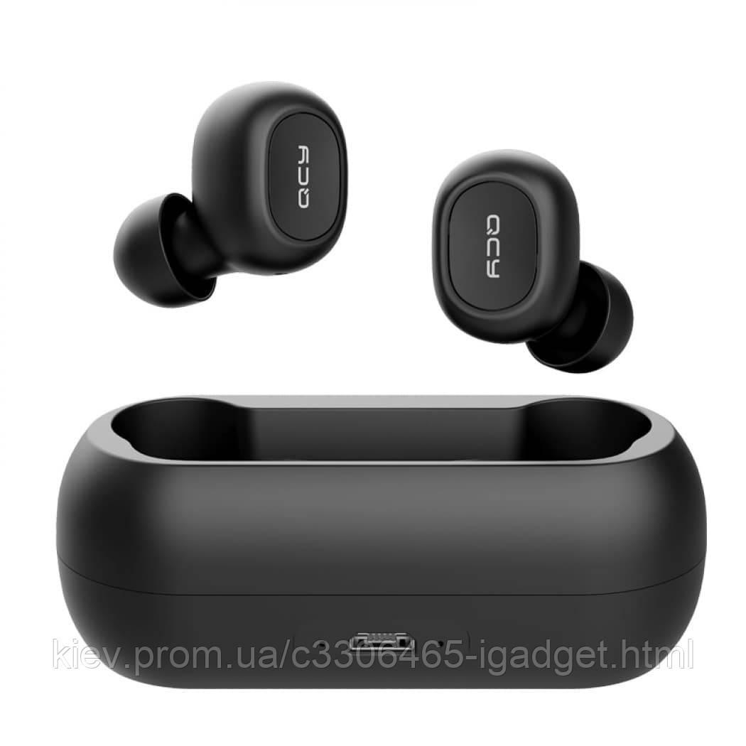 Беспроводные Bluetooth наушники QCY QS1 (T1C) с зарядным кейсом (Черный)