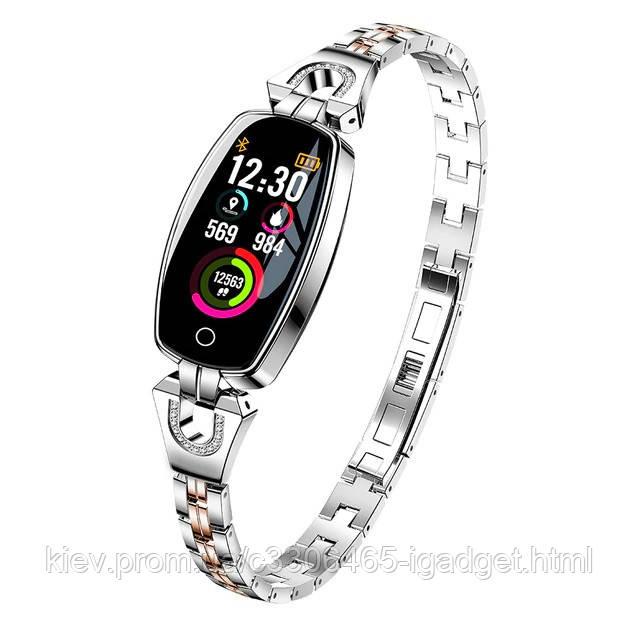 Умные часы фитнес браслет Finow H8 с тонометром (Серебристый)