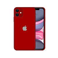 Виниловая наклейка для iPhone 11 красный (матовый) InStick