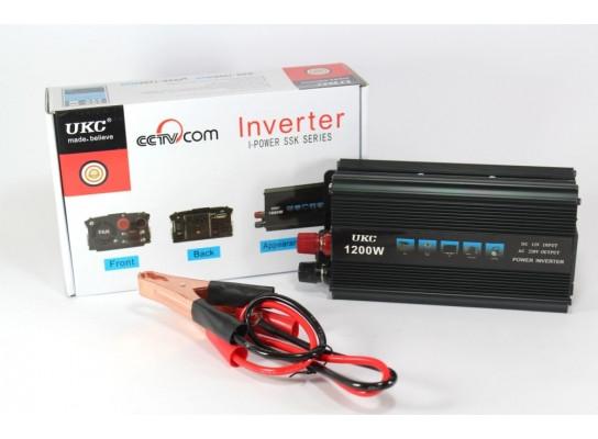 Автомобильный Инвертор - преобразователь напряжения UKC AC/DC SSK 1200W