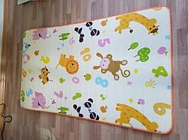 Детский напольный тканевый коврик Аквариум Животные игровой развивающий мягкий для детей 10 мм, 1,5*1,8 м