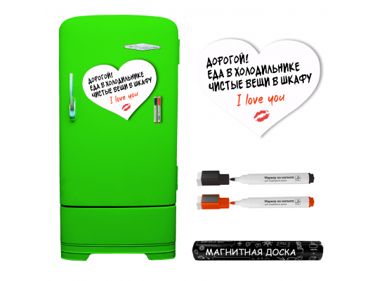Магнитная доска на холодильник маркерная Любовь