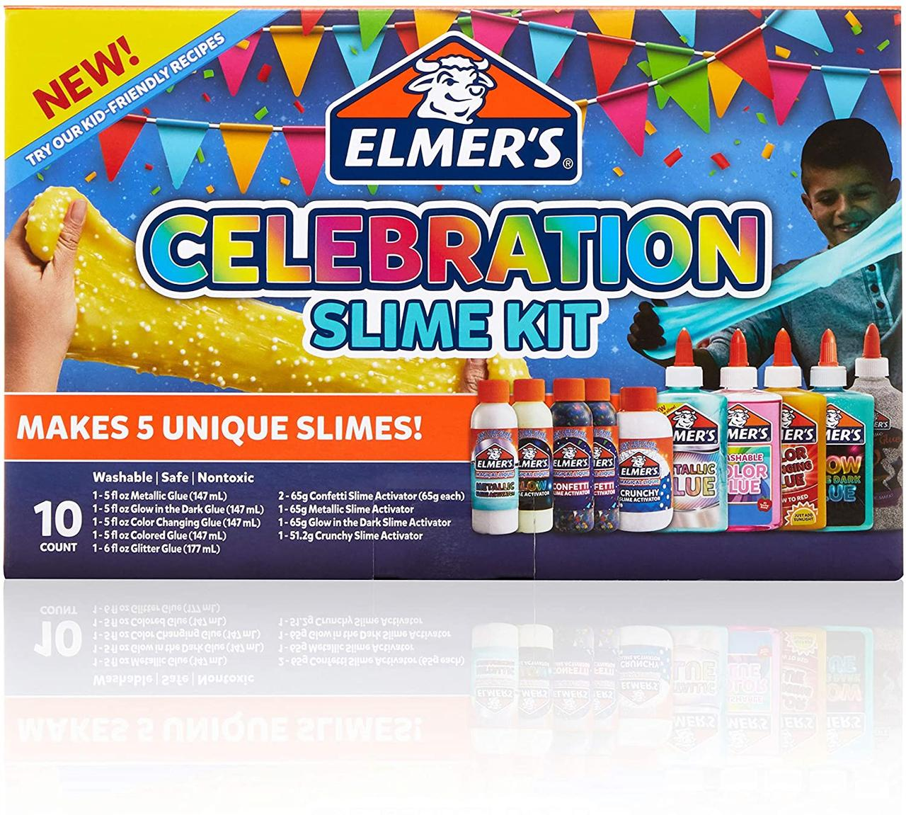 Набор Элмерс для создания слаймов Конфетти Elmer'S Celebration Slime Kit