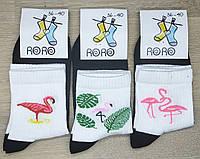 """Молодежные носки """"RORO"""". Фламинго. №294. (Розница)."""