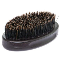 Щетка для бороды овальная Barber Pro деревянная с натуральной щетиной большая
