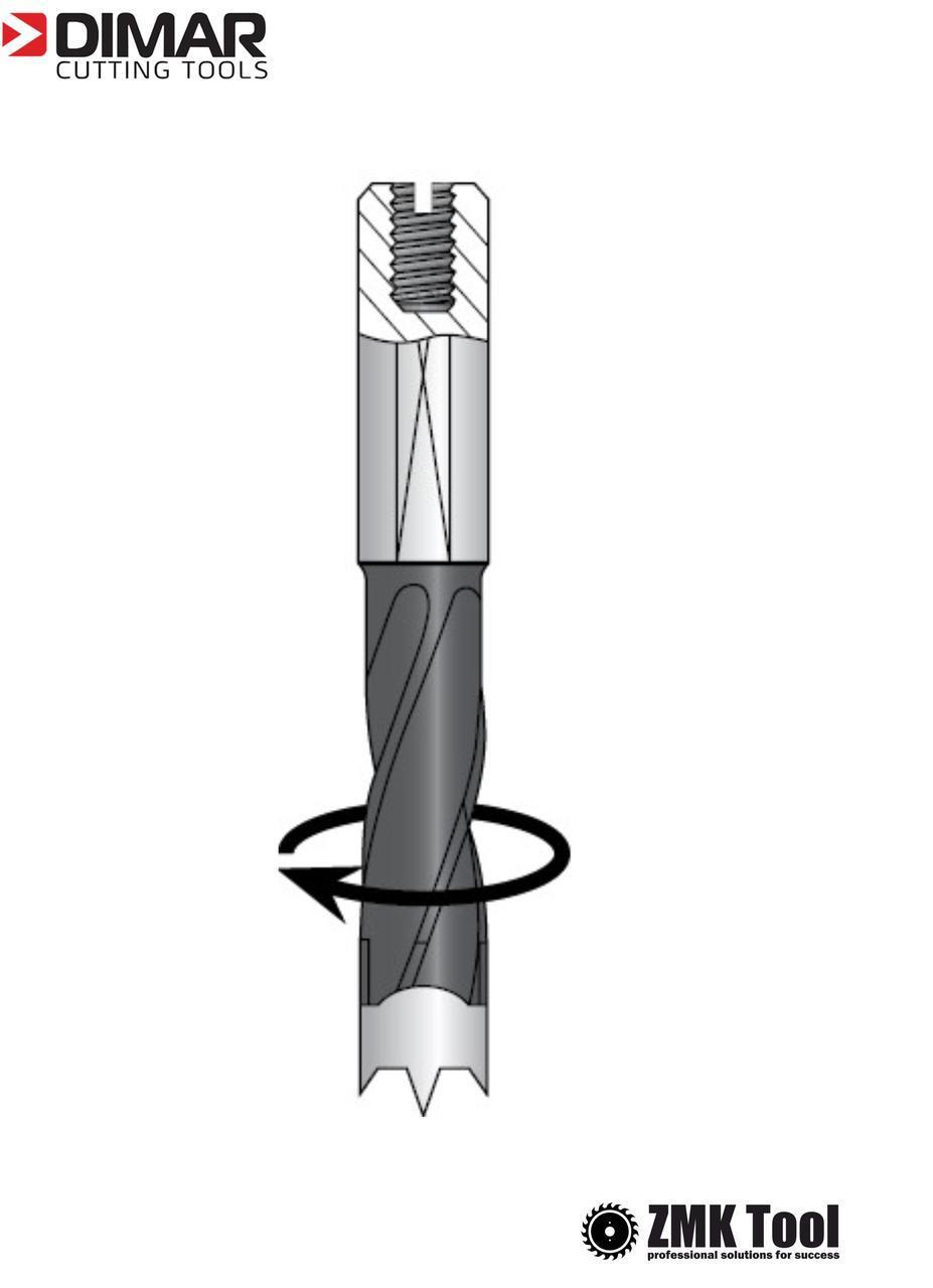 Сверло DIMAR глухое с двойной спиралью 12,7х70 правое